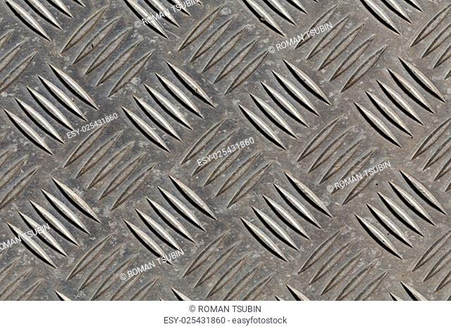 Diamond dirty steel metal plate background texture