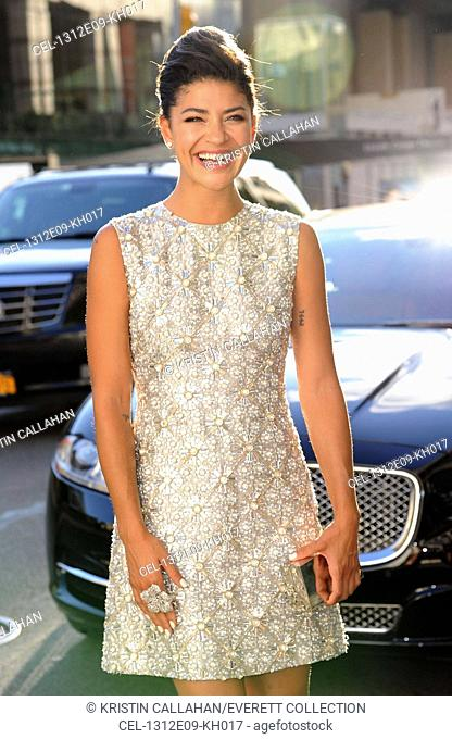 Jessica Szohr (wearing a Kaufmanfranco dress) at arrivals for 2013 Fragrance Foundation Awards, Alice Tully Hall at Lincoln Center, New York, NY June 12, 2013
