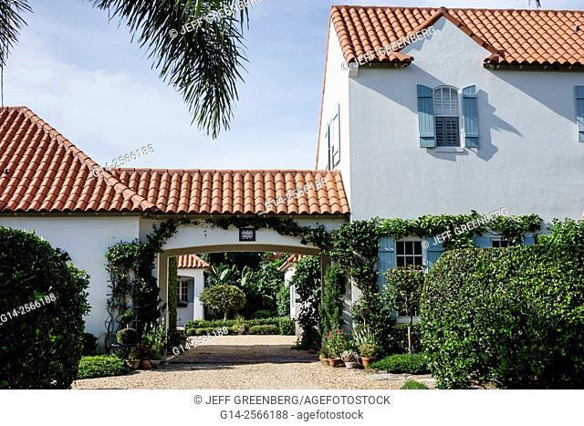 Florida, Vero Beach, North Hutchinson Orchid Island, Ladybug Lane, house, home, barrel tile roofing