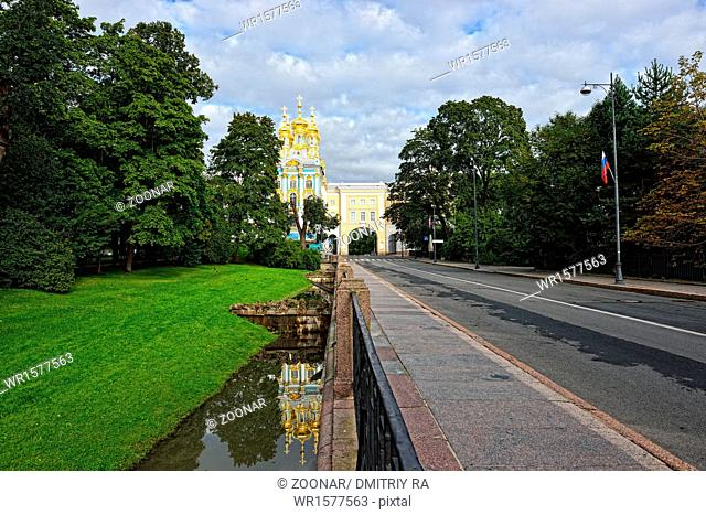 Pushkin town. Catherine garden and palace