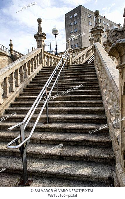 Steps in Pontevedra, Galicia, Spain, Europe