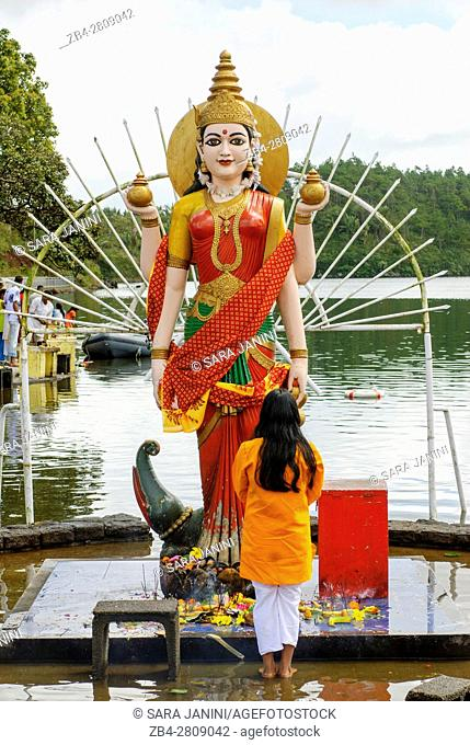 Hindu Festival dedicated to Ganesh in Ganga Talao (commonly known as Grand Bassin), a crater lake situated in a secluded mountain area in the district of...