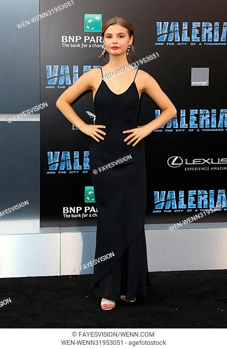 World premiere of 'Valerian and the City of a Thousand Planets' at the TCL Chinese Theatre - Arrivals Featuring: Stefanie Scott Where: Los Angeles, California