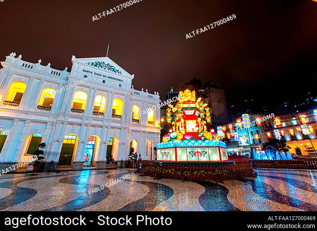 View of Holy House of Mercy in Macau's Senado Square