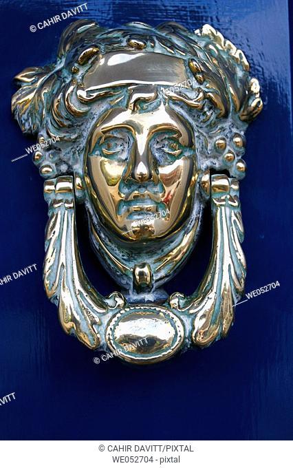 Elaborate Georgian door knocker in Fitzwilliam Square, Dublin 2, Co  Dublin, Ireland