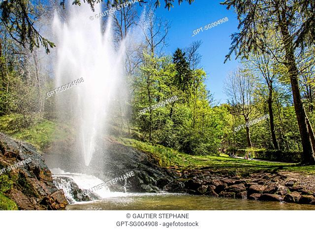 ROMANTIC GARDEN AND FOUNTAIN THAT LETS YOU DISCOVER THE PRINCIPLES OF HYDRAULICS, MUSEUM AND GARDENS OF THE CANAL DU MIDI, LAKE SAINT FERREOL, REVEL