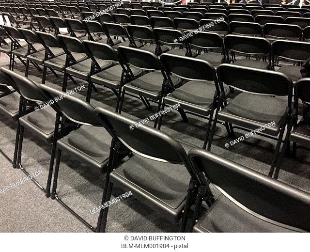 Empty seats in auditorium