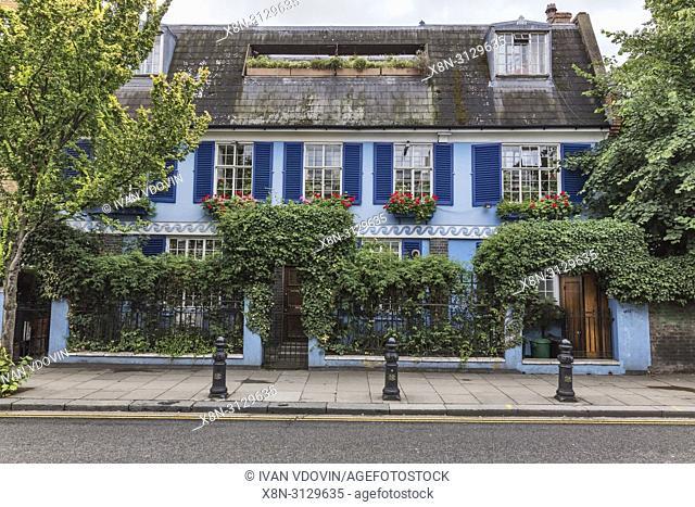 Vintage house, Portobello Road, London, England, UK