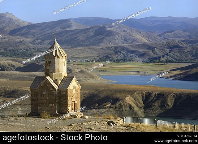 Iran, West Azerbaijan province, Unesco World Heritage Site, Dzordzor chapel and Baron lake