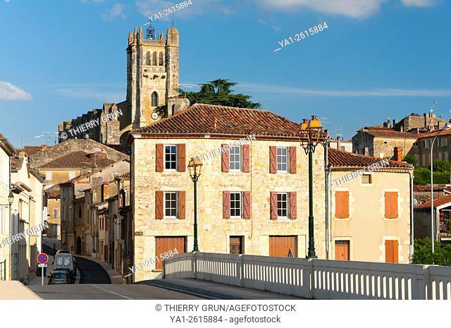 France, Gers (32), Town of Condom, Barlet bridge