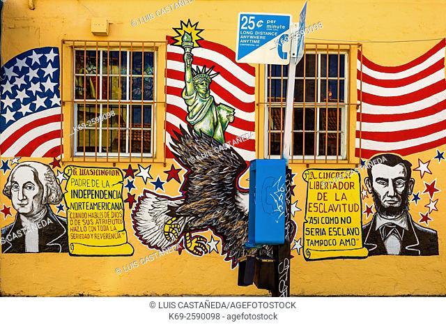 Outdoors Mural at Calle Ocho. Little Havana. Miami. Florida. USA
