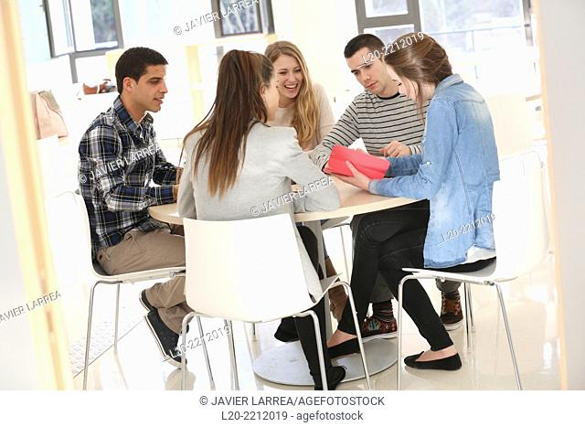 Young students at campus