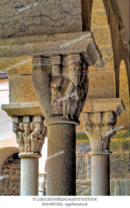 Romanesque Capitals  Sant Pere de Rodes Monastery Port de la Selva  Girona Spain