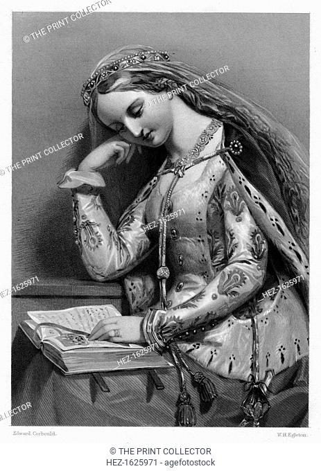Elizabeth of York, Queen Consort of King Henry VII of England, (19th century). Elizabeth (1466-1503) was the eldest daughter of King Edward IV