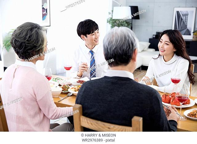 Lifestyle of harmonious family