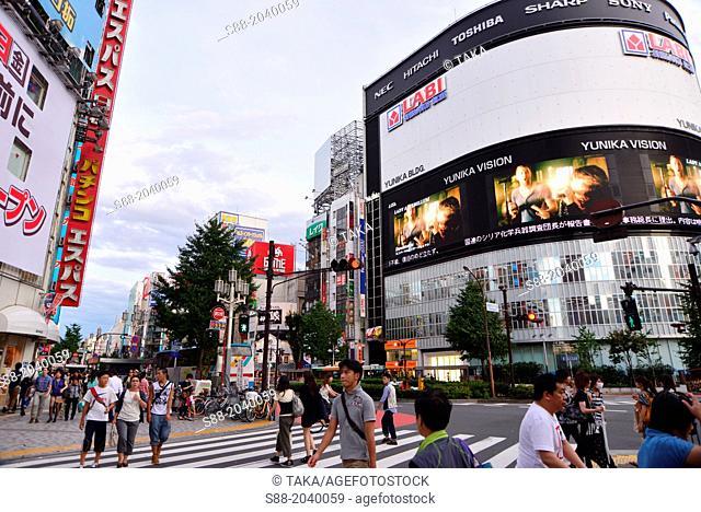 Central Tokyo at Shinjuku street view