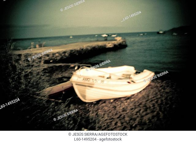 Boat in Port, Isleta del Moro, Cabo de Gata, Almeria