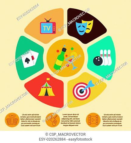 Entertainments infographics set