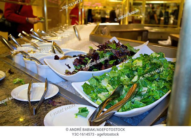 Restaurant Buffet with Salad Bar