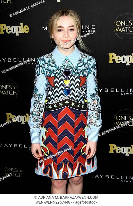 People's One's To Watch Event Celebrating Hollywood's Rising & Brightest Stars held at E.P. & L.P. in Los Angeles Featuring: Sabrina Carpenter Where: Los...