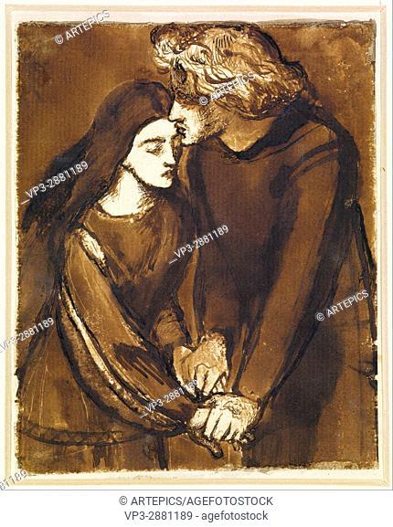 Dante Gabriel Rossetti - Two Lovers - Birmingham Museum and Art Gallery