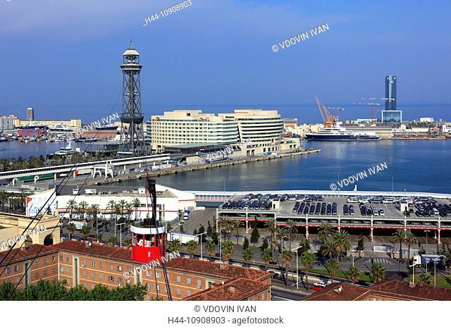 Europe, European, travel, destinations, Iberian Peninsula, Mediterranean Country, Southern Europe, Spain, Spanish, cities, city, tower, Barcelona, Catalan