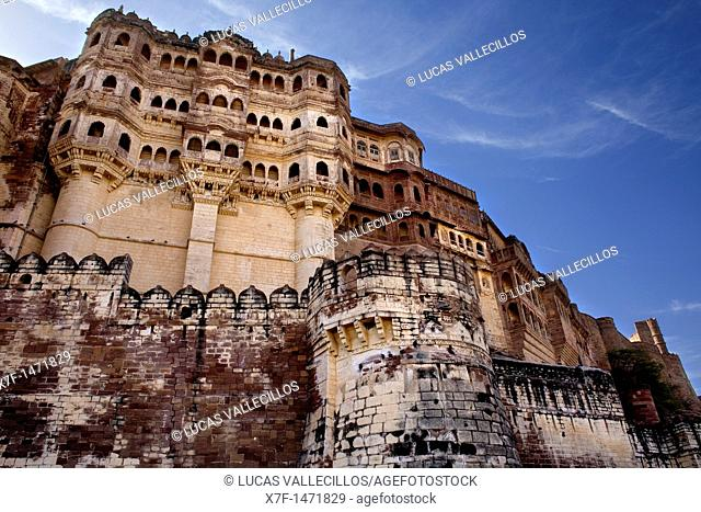 Mehrangarh Fort,a north west view,Jodhpur, Rajasthan, India