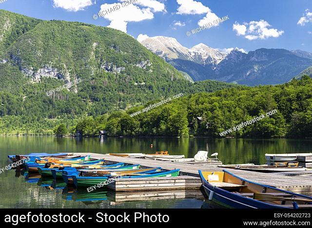 Lake Bohinj in Triglav national park, Slovenia
