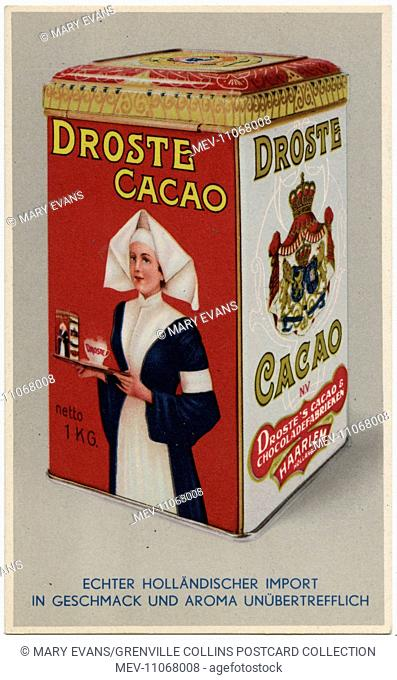 Droste Drinking Chocolate Tin - manufactured at Haarlem, The Netherlands