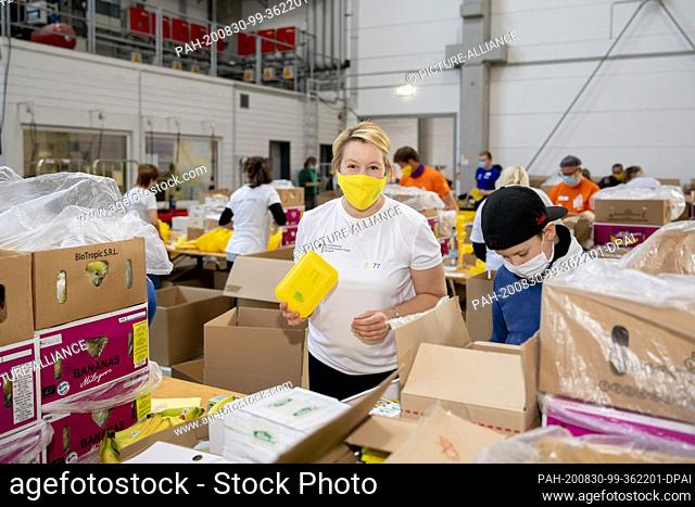 30 August 2020, Berlin: Franziska Giffey (SPD), Federal Minister for Family Affairs, Senior Citizens, Women and Youth, looks into the camera during a packing...