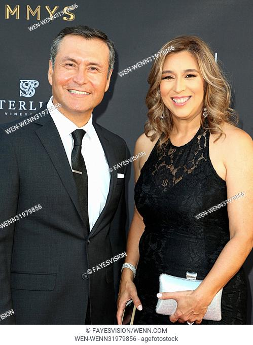 69th Los Angeles Area Emmy Awards Featuring: Guillermo Quiroz, Julisa Quiroz Where: Los Angeles, California, United States When: 23 Jul 2017 Credit:...