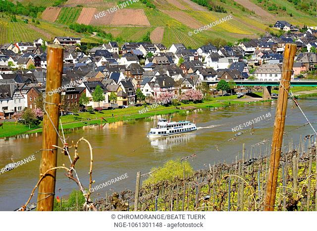 Ship on the river Moselle near Reil