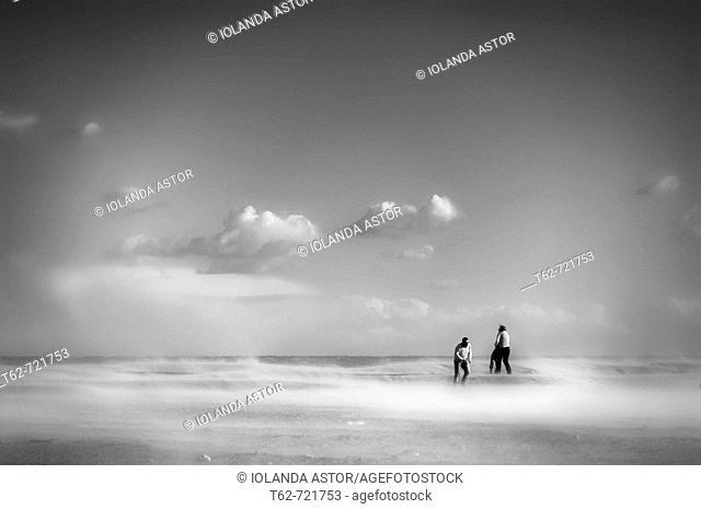 Sand and Wind, Platja de El Trabucador. Ebro Delta National Park, Tarragona province, Catalonia, Spain