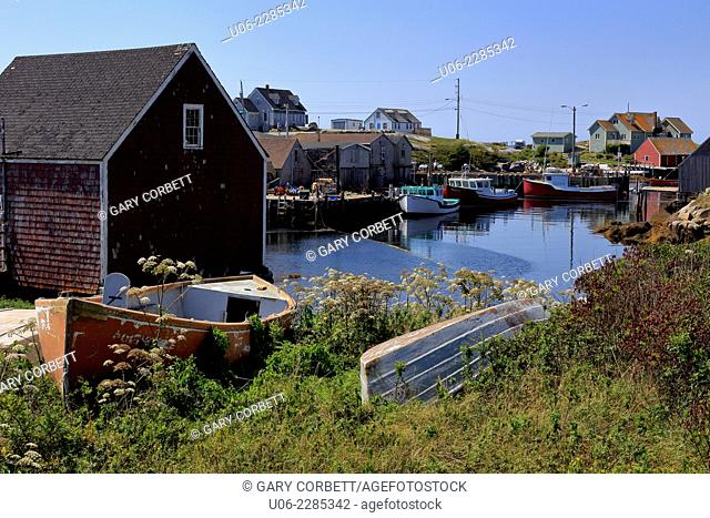 Old fishing boats at Peggy's Cove, Nova Scotia, Canada