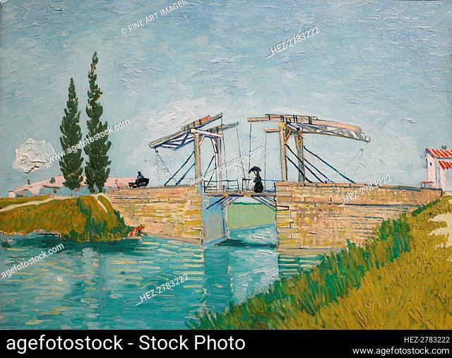 The Langlois bridge (Pont de Langlois), 1888. Creator: Gogh, Vincent, van (1853-1890)