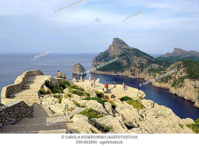 E, Spain, Europe, Balearic islands, Mallorca, Cape Formentor, Mirador de Mal Pas