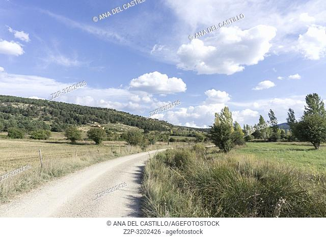Landscape country in Alcala de la Selva Teruel Aragon, Spain