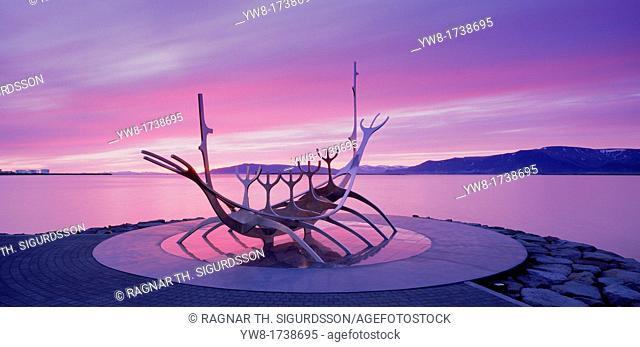 'Solfar' Viking ship, Reykjavik, Iceland