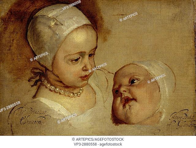 Sir Anthony van Dyck - Princess Elizabeth, 1635 - 1650 and Princess Anne, 1637 - 1640 - National Galleries of Scotland