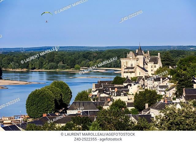 Castle of Montsoreau along the Loire and Vienne Rivers. Montsoreau (Labeled The Most Beautiful Villages of France), Maine-et-Loire, Pays de la Loire region