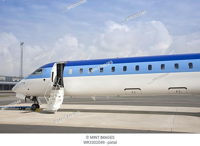 Jet Plane With Extended Steps