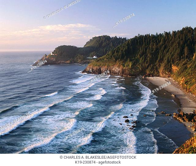 Heceta Head Lighthouse. Devil's Elbow State Park. Oregon. USA