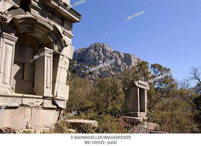 Termessos National Park near Antalya Turkey ancient city Termessos excavations at the gymnasium