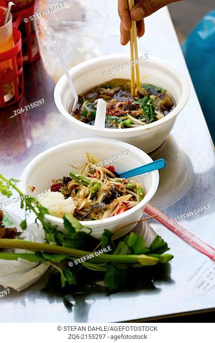Thai Noodel Soup in Bangkok, Thailand