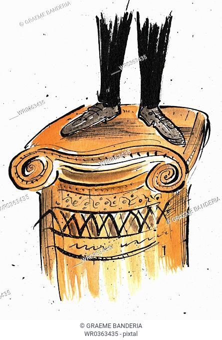 Standing On A Pedestal