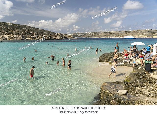 die blaue Lagune, Insel Comino, Malta   the Blue Lagoon, Comino island, Malta