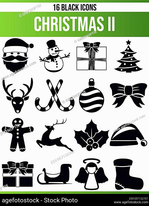 Black pictograms / icons on Christmas. This icon set is perfect for creative people and designers who need the Christmas theme in their graphic designs
