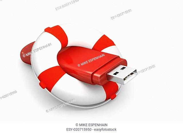 USB-Stick mit Rettungsring