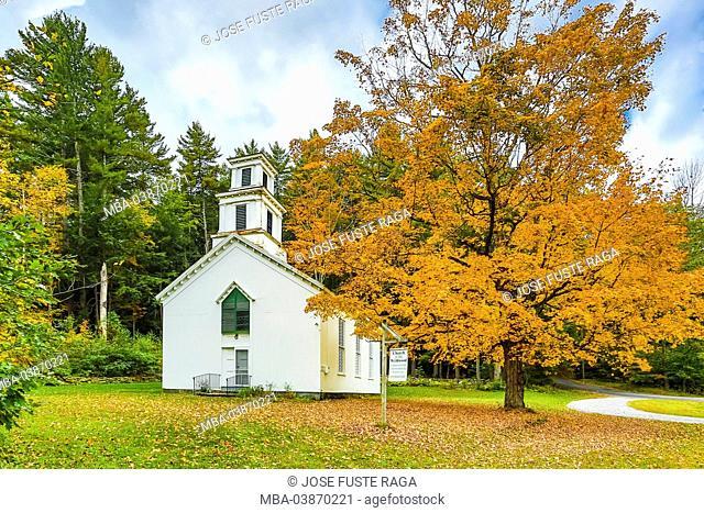 USA, Massachusetts, Berckshire District, Near Lee City, Church