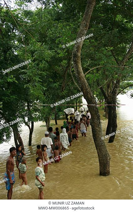 Nearly 30 villages in two upazilas of the Comilla district were flooded as water rolled down from the hills damaging the embankment along the Kankri River...